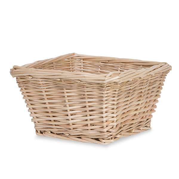Natural Willow Square Tray Basket 7in