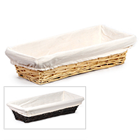 Savannah Slim Rectangular Utility with Cloth Liner