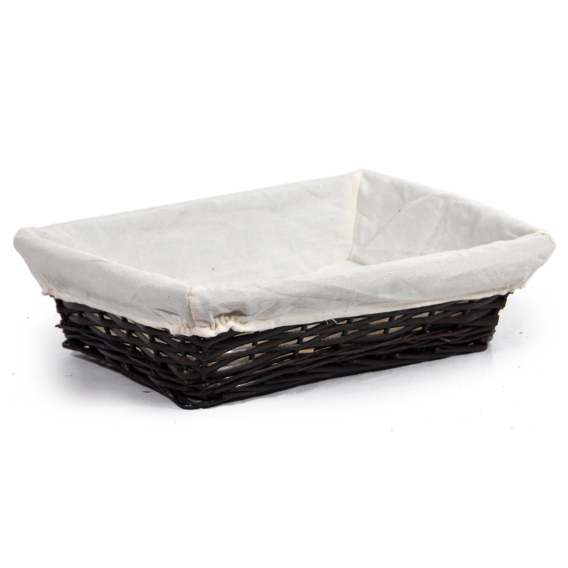 Savannah Large Rectangular Tray with Cloth Liner 12in