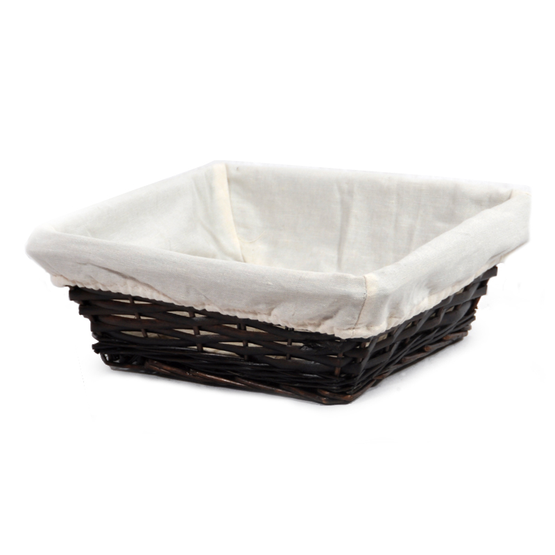 Savannah Square Utility with Cloth Liner Basket 9in