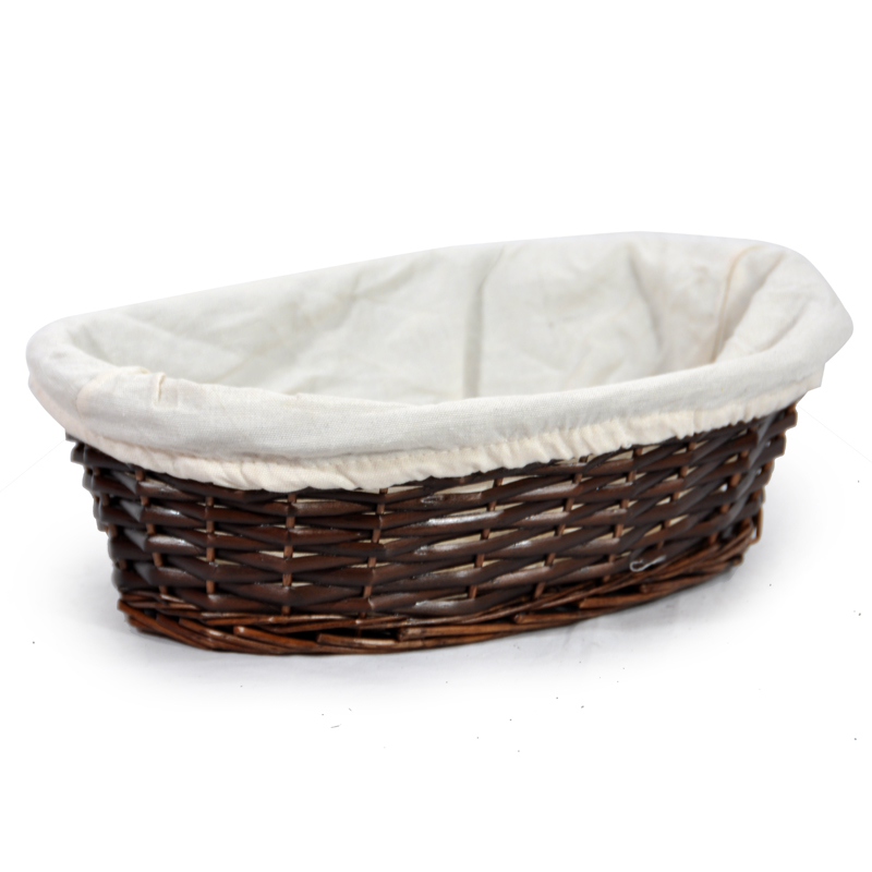 Savannah Large Oval Utility with Cloth Liner Basket 12in