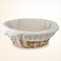 Natural Willow Bowl with Cloth Liner