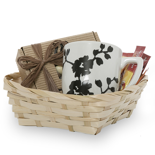 Natural Bamboo Basket 7in