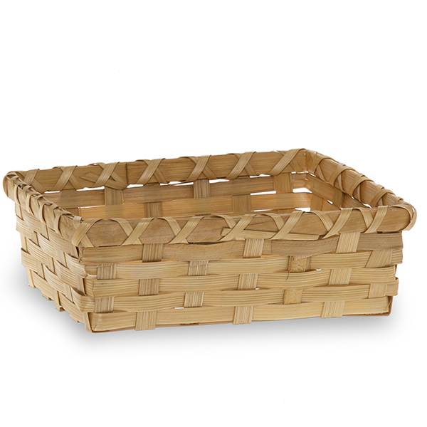 Rectangular Bamboo Tray Basket 7in