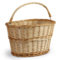 Lucy Oval Swing Handle Wicker Basket