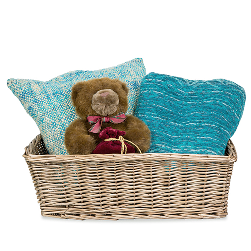Granata Rectangular Willow Display Basket 24in