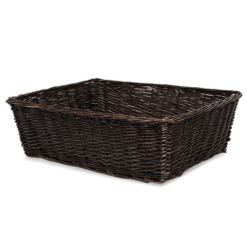 Avery Mahogany Rectangular Display Basket - Large 24in