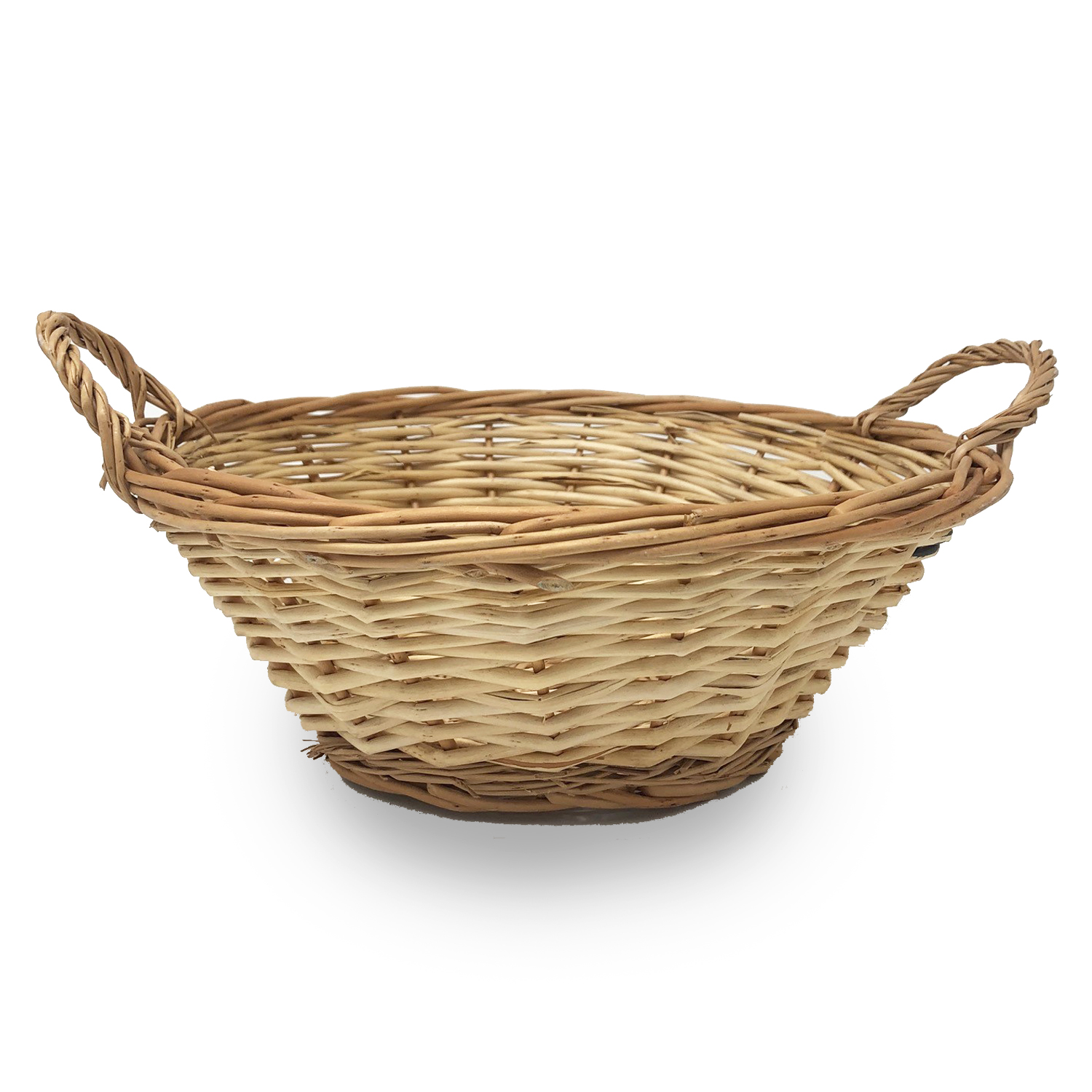 Natural Round Tray Basket - Medium 10in