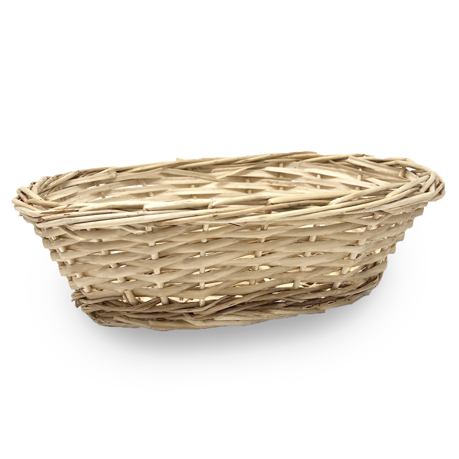 Natural Willow Oblong Tray Basket 10in
