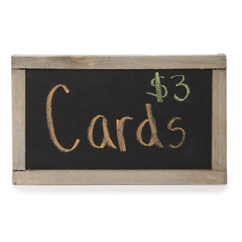 Small Wooden Rectangular Chalkboard 5in