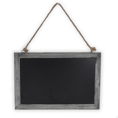Large Hanging Retail Display Chalkboard Sign Smokey Grey