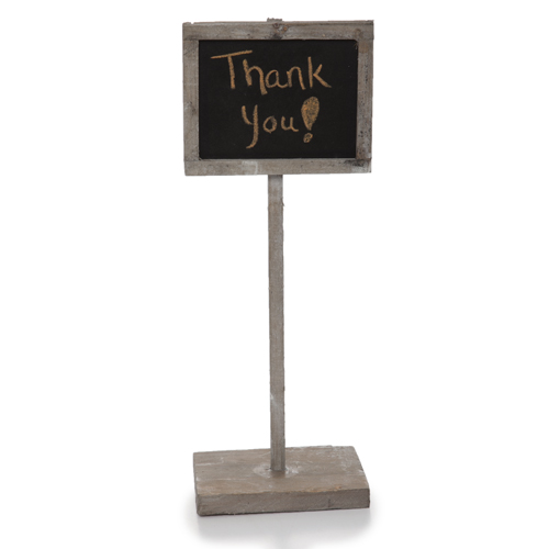 Wooden Chalkboard Sign with Base - Small 4in