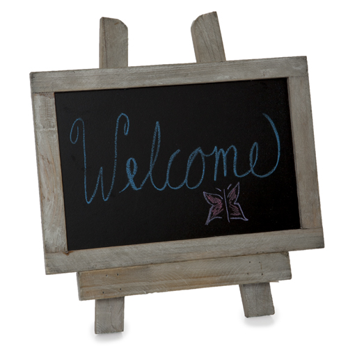 Wooden Chalkboard with Easel - Small