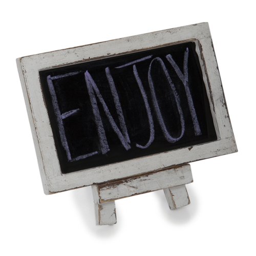 Mini Wooden Chalkboard with Easel 5in