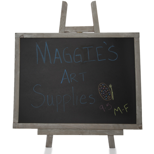 Wooden Chalkboard with Easel - Large 16in