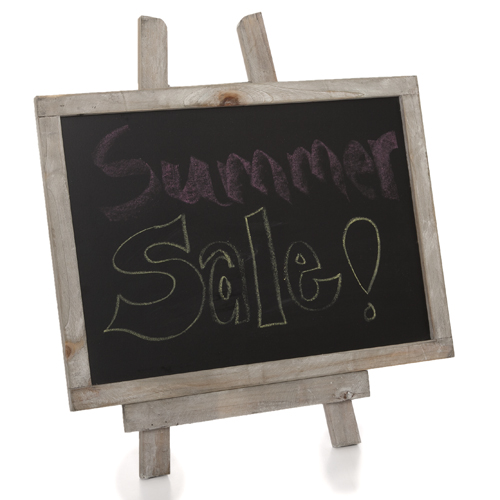 Wooden Chalkboard with Easel - Medium 10in
