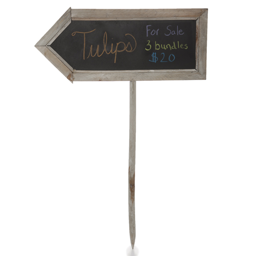 Two Sided Arrow Shaped Chalkboard Sign - Large 17in