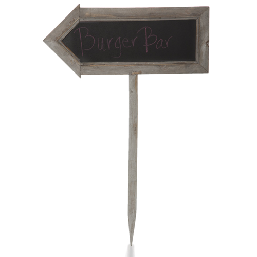 Two Sided Arrow Shaped Chalkboard Sign - Medium 22in