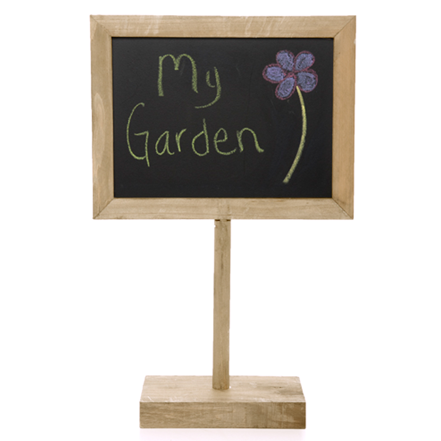 Wooden Chalkboard Sign with Base - Medium 9in
