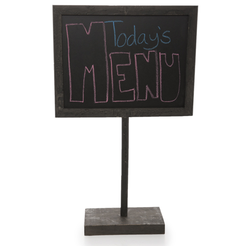 Wooden Chalkboard Sign with Base - Large 12in