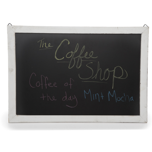 Wooden Chalkboard Display Sign for Wall- Medium Narrow 17in