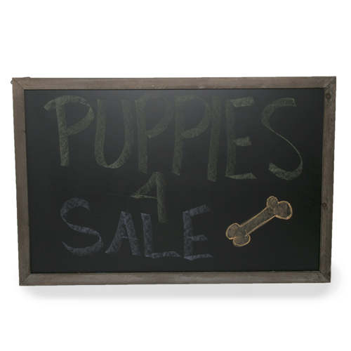 Wooden Chalkboard Display Sign for Wall - Extra Large 24in