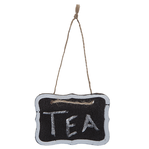 Mini Hanging Chalkboard Sign with White Border 4in