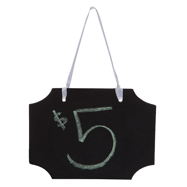Hanging Chalkboard Sign Horizontal - Small 6in