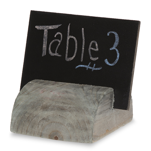 Small Rectangular Chalkboard Sign with Wood Stand 4in