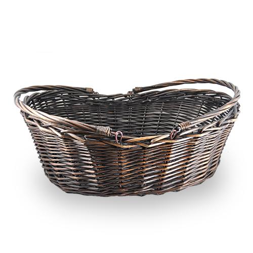 Dark Wicker Baskets With Handles : Dark brown stain per wicker basket the lucky clover