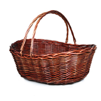Stained Shopper Wholesale Wicker Basket