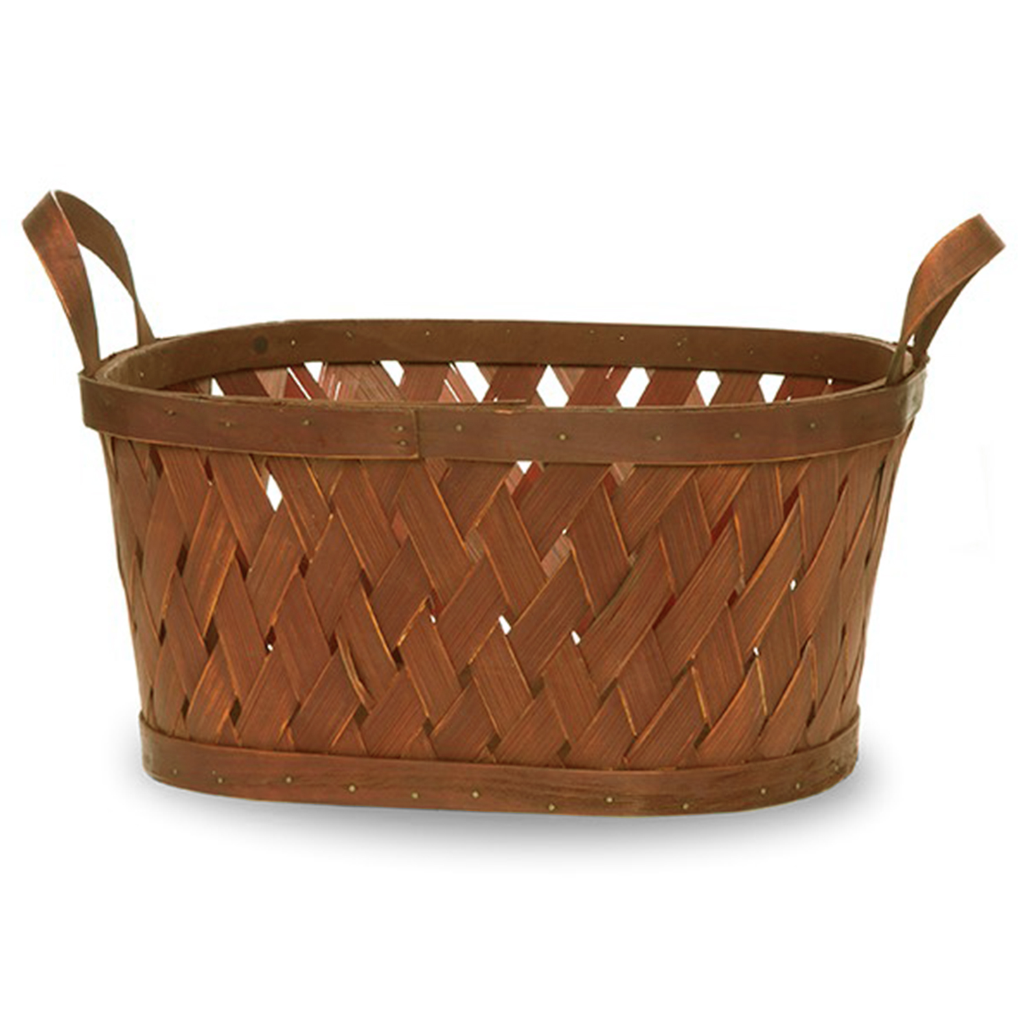 Oblong Woodchip Weave Ear Handle Basket - Large 12in