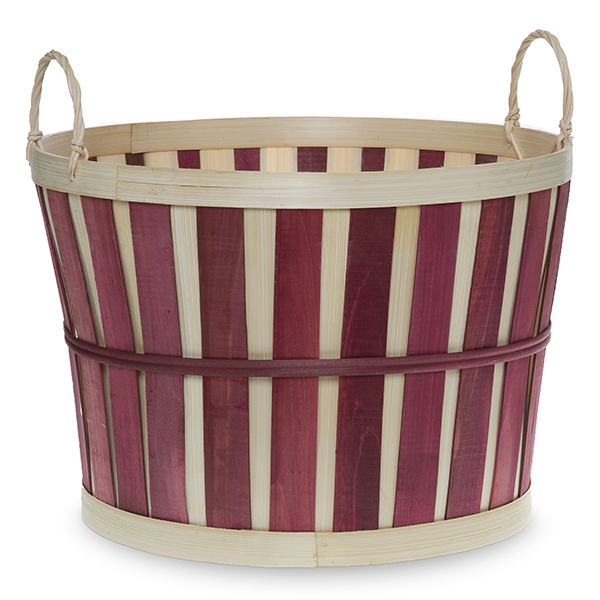 Round Woodchip Bushel Utility Basket - Large 12in