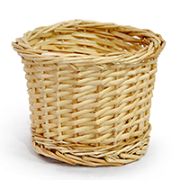 Split Willow Braided Rim Round Planter
