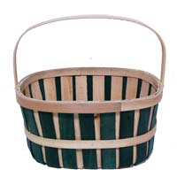 Woodchip Oblong Bushel Bucket with Handle - Green
