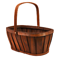 Woodchip Oblong Bushel Bucket Urn with Swing Handle - Brown