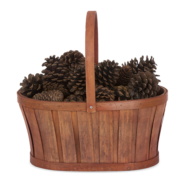 Woodchip Oblong Urn Handle Basket - Autumn 13in