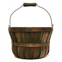 Woodchip Swing Handle Bushel Basket Brown - Large Basket