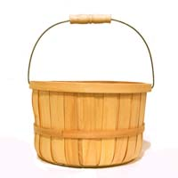 Woodchip Swing Handle Natural Bushel Basket - Large