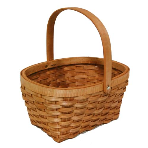 Woodchip Weave Swing Handle Basket - Small 11in