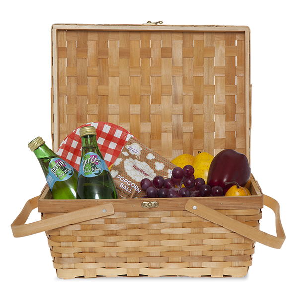 Woodchip Picnic Basket 14in