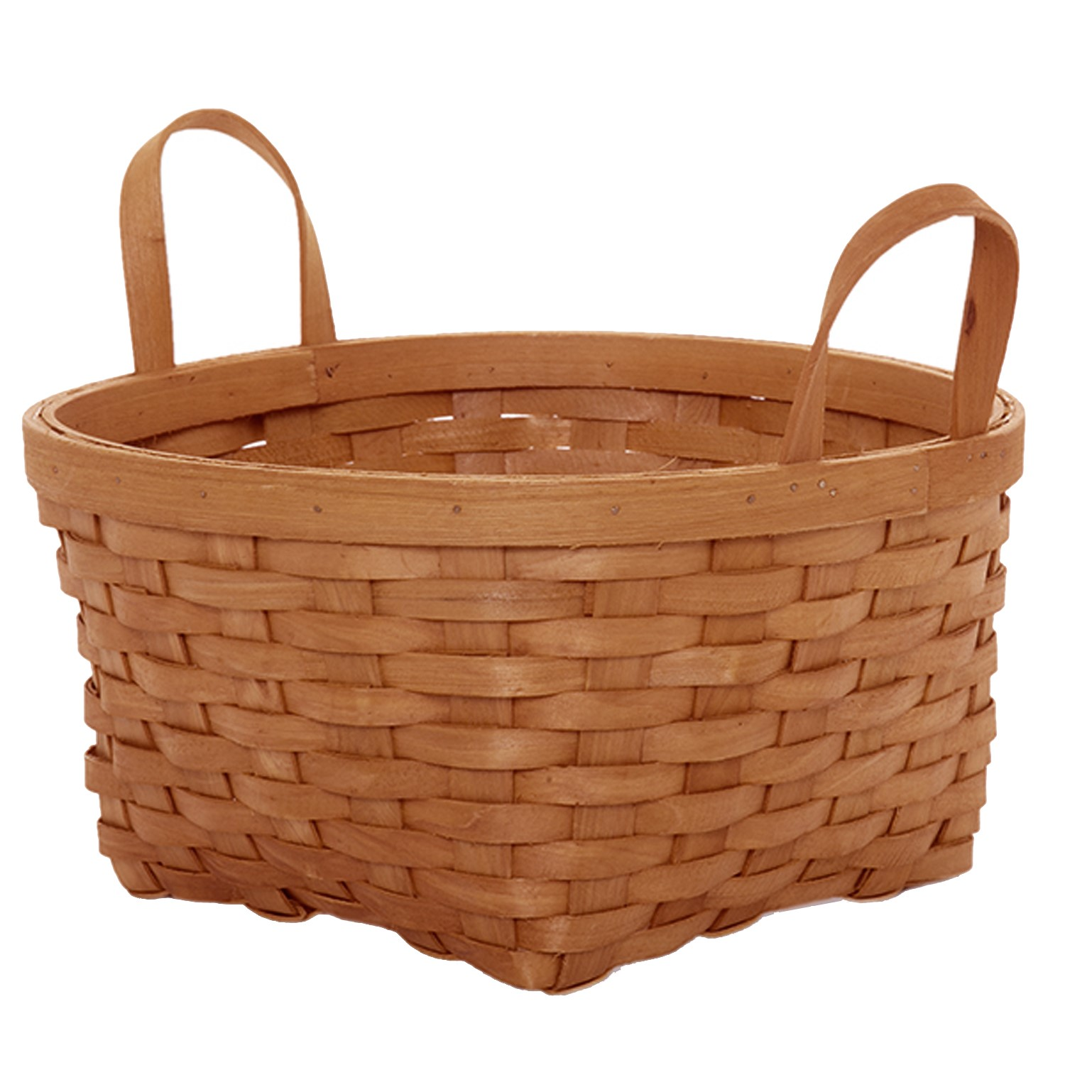 Classic Woodchip Weave Basket with Ear Handles - Large 11in