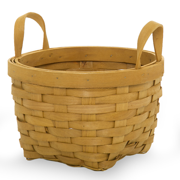 Classic Woodchip Weave Basket with Ear Handles - Small 7in