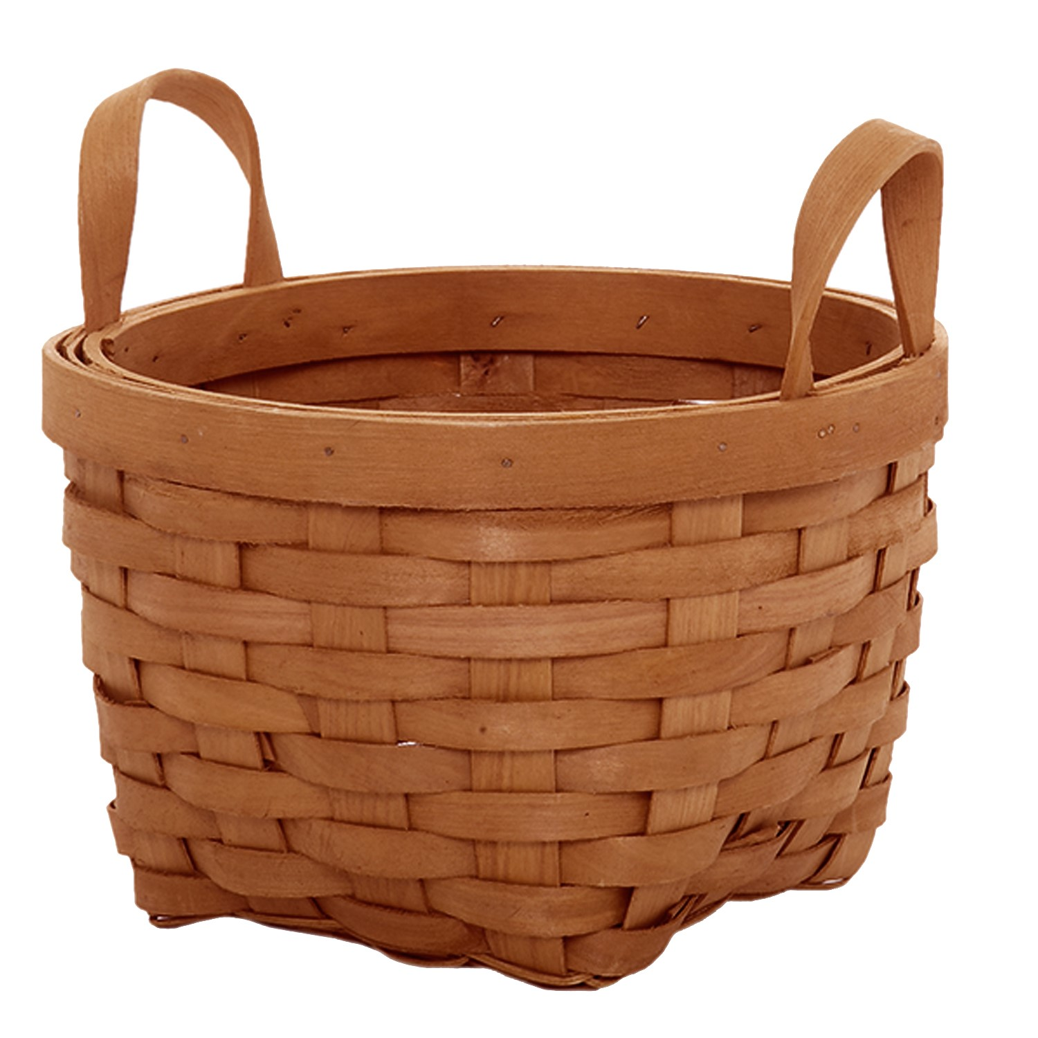 Classic Woodchip Weave Basket with Ear Handles - Small 8in