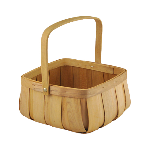 Square Top Curved Bottom Basket - Large 7in