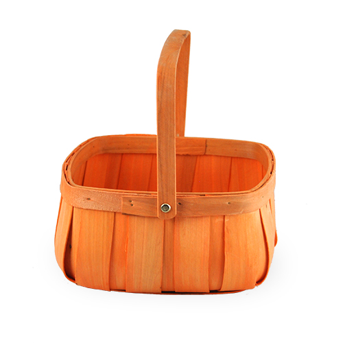 Square Top Curved Bottom Basket - Large 8in