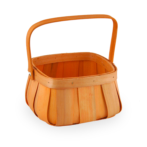 Square Top Curved Bottom Basket - Small 6in