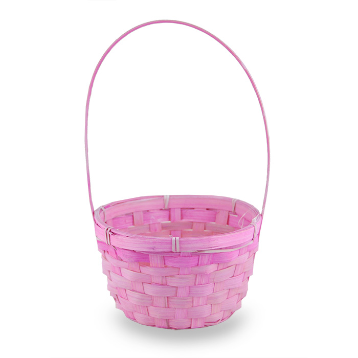Round Bamboo Handle Basket - 6in