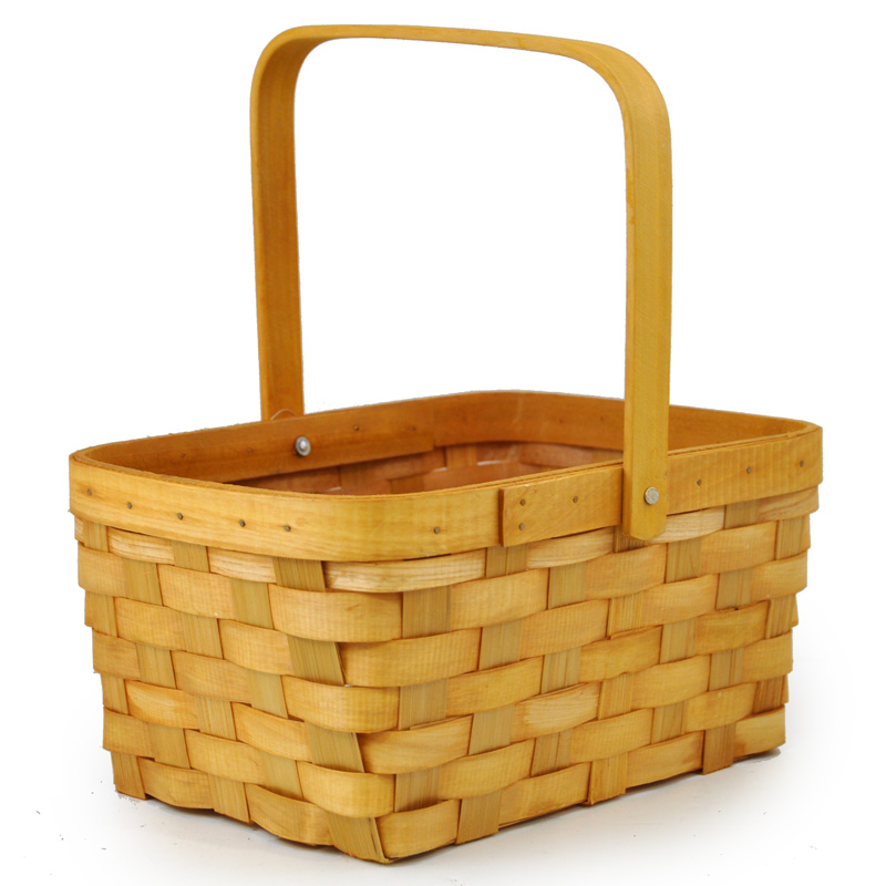Rectangular Weave Swing Handle Wholesale Basket - Medium 10in