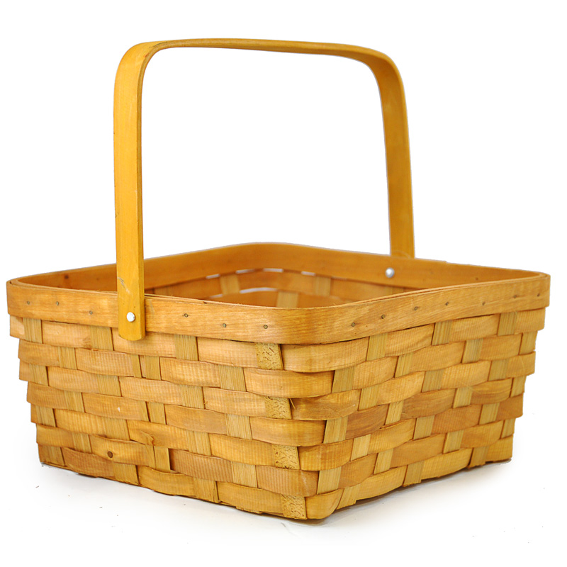 Square Weave Swing Handle Basket - Large 10in